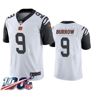 Cincinnati Bengals Joe Burrow White Rush Jersey